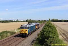 50008/92028 Kempston Hardwick 11th August 2018 (Lorenzo's Modern Traction) Tags: 50008 92028 0z81 loughborough brush wembley efoc kempston hardwick marston vale line