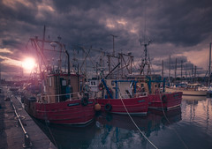 Each thing in it's season... (Dark side of the lens) Tags: storm perfect canon carl zeiss photoshop lightroom concept art location shoot arbroath scotland fishing boat vessel harbour marina