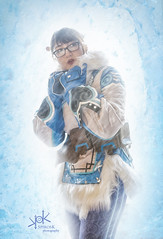 Mei from Overwatch: it's a cold day! (by SpirosK photography and Maya Cosplay) (SpirosK photography) Tags: cosplay boudoir mei overwatch cosplayphotoshoot photoshoot mayacosplay spiroskphotography costumeplay game videogame videogamecharacter blue portrait nikon strobist ice composite