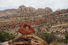 arch cairn (rovingmagpie) Tags: utah fruita capitolreefnationalpark capitolreef fryingpantrail backcountry weather clouds summer2018