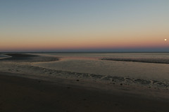 Night's peace (Paul Threlfall) Tags: exmouth townbeach wa westernaustralia northwestcape moon luna reflections beach ocean exmouthgulf