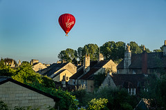 Nobody told me to expect visitors (johngarghan) Tags: balloon hotairballoon rooftops virgin bradfordonavon wiltshire johngarghan