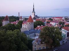 Tallinn - Old town (fb81) Tags: estonia tallinn old town historic center panorama church tower wall sea