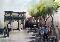 coliseo_ roma (sergiotorre) Tags: coliseo arco constantino roma acuarela watercolor watercolour