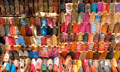slippers and shoes (againandagain251) Tags: colour colourfulshoes colourfulslippers marketstall jodhpur rajasthan india incredibleindia pastel womensshoes hippyshoes