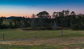 Sunset Rural Landscape