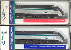et_loco (Transrail) Tags: eurotunnel kato cjm model train channeltunnel leshuttle passenger freight bobobo doubledeck singledeck loader loading coach carriage ngauge locomotive electric