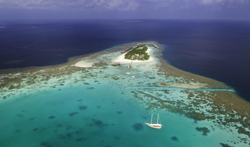 Mirihi Island Aerial