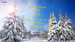 主题经文- 平安 (追逐晨星) Tags: 平安 金句卡片 圣经金句 雪景
