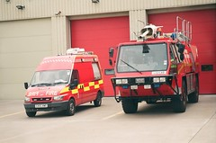Airbus Broughton fire station (petros.williams@btinternet.com) Tags: fordtransit angloco simonprotector simongloster l52cad cx55xwo incidentresponse airbusfire firebrigadesociety