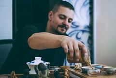 tea master (YellowTipTruck) Tags: teaparty bunfight greentea teamaster tea pouredtea teatable