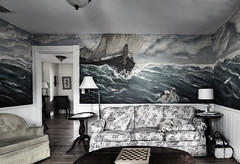 That Room .... ; (c)rebfoto (rebfoto ...away on a break ...) Tags: thatroom livingroom thisoldhouse rebfoto room mural wall wallpainting
