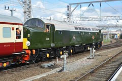 """British Railways Green Class 40, D213 """"Andania"""" (37190 """"Dalzell"""") Tags: br britishrailways brgreen ee englishelectric type4 whistler class40 d213 andania 40013 locomotiveservices loadedtestrun crewe"""