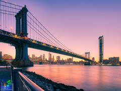 Crossing (Brian D' Rozario) Tags: brian19869 briandrozario nikon d750 manhattan brooklyn sunset nyc ny newyorkcity newyork citylife timeless bridge bridges skyscraper skyscrapers skyscrapercity manhattanbridge reflection river riverbank riverside eastriver hue tokina1116 hdr highdynamicrange orange lavender highrise