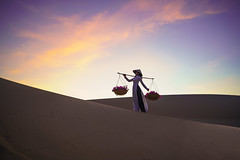 Mui Ne white sand with woman in vietnam culture traditional dress, Vietnam (Patrick Foto ;)) Tags: adventure asian background beautiful beauty blue business colorful copy culture desert dune dunes dusk evening female girl happy lady landscape lifestyle morning mui muine nature ne one orange outdoors people portrait red sand silhouette sky space summer sunset texture tourism tourist traditional travel vietnam vintage white woman yellow young thànhphốphanthiết bìnhthuận vn