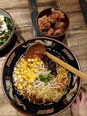 Tokyo shoyu ramen with karaage chicken AUD15 - Yokozuna Chadstone (avlxyz) Tags: noodles ramen soup soysauce japanesefood