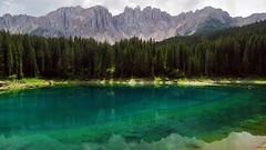 Lago di Carezza - Trentino-Alto Adige - Italia (Felina Photography - www.mountainphotography.eu) Tags: karersee lagodicarezza lac see meer lake lago dolomiti dolomites trentino reflection