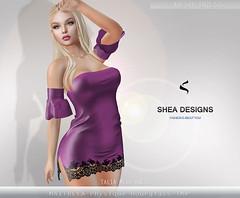 SD Talia Mesh Dress - Dark   Pink (Shea Designs SL) Tags: maitreya belleza hourglass physique sheadesigns sexy casual summer latina
