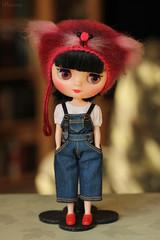 (Ulanna) Tags: blythe middieblythe knitting handmade cap hat helmet