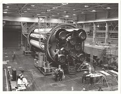 sa01_v_bw_o_n (prob NASA-Marshall Photo, hand annotated M61-180-4) (apollo_4ever) Tags: assemblyjig spacehistory spacerace h1engine h1engines h1rocketengine h1rocketengines sa1 humanspaceflight mannedspaceflight unmannedrocket testflight saturnc1 saturnc1rocket saturn1 saturn1rocket saturni saturnirocket msfc marshallspaceflightcenter sistage boosterstage firststage saturnapollo saturnrocket saturnprogram glossyphoto blackandwhite projectapollo apolloprogram apollospaceprogram