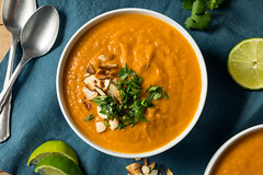Homemade Thai Sweet Potato Soup (brent.hofacker) Tags: appetizer autumn bowl butternut carrot cooking cream creamy cuisine delicious diet dinner dish food fresh garnish gourmet healthy homemade hot lunch meal onion orange organic plate potato pumpkin puree soup spoon sweet sweetpotato sweetpotatosoup tasty thaisoup thaisweetpotatosoup traditional vegan vegetable vegetarian yam yellow
