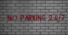 No Parking (p.mathias) Tags: glasgow scotland wall bricks parking europe unitedkingdom sony a5100