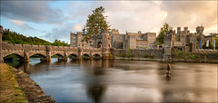 Fly fishing at Ashford Castle (mickreynolds) Tags: ashfordcastle castle comayo cong hotel ireland medieval nd1000 nx500 samyang12mm water wildatlanticway longexposure