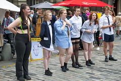 underwear girls Edinburgh Fringe 2018_2344 (David in Lisburn) Tags: edinburghfringe scotland royalmile busking streetperformers bagpipes guitarists violins artsfestival cobblestones circus comedy music fireeaters jugglers swordswallowers freeshows leaflets posers posters romeoandjuliet humandolphins facepainting cartoons streetartists