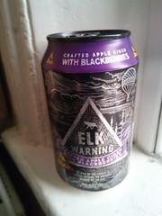 Elk Warning Apple & Blackberry Cider can (Chris Hester) Tags: elk warning apple blackberry cider can