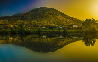 Landscape Portugal by sunrise.
