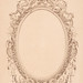 Portrait Frame by James F. Queen (Died: 1889) design with an oval frame decorated with baby angels. Original from Library of Congress. Digitally enhanced by rawpixel.