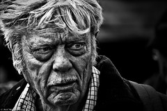 There may be trouble ahead. (Neil. Moralee) Tags: middevonshow2018neilmoralee neilmoralee face portrait strong harsh push process man old mature stare trouble black white bw bandw blackandwhite mono monochrome nikon neil moralee d7200 mid devon show wrinkles wrinkled haggared disheveled rough moustache dark sinister powerful power manly tough solid robust candid street