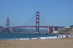 Baker Beach view (Yohann.Junique) Tags: sa san fransisco california usa bridge architecture view landscape ocean bay sand beach baker