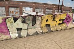 KURE (TheGraffitiHunters) Tags: graffiti graff spray paint street art colorful pa pennsylvania philly philadelphia bando abandoned building kure