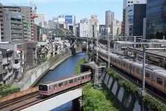 tokyo7277 (tanayan) Tags: urban town cityscape tokyo japan nikon v3 東京 日本 road street alley ochanomizu 御茶ノ水 jr train railway metro