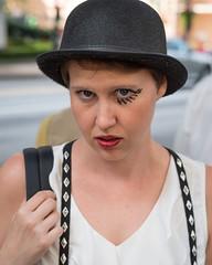 (jwcjr) Tags: 2016dragoncon atlantaga atlantageorgia dragoncon dragoncon2016 pentax people atlanta woman face portrait streetportrait hat womanhat