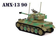 AMX-13/90 (Matthew McCall) Tags: lego light tank amx13 france french cold war military army