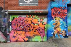 ezo (Luna Park) Tags: ny nyc newyork queens wellingcourt mural project welling court streetart production graffiti wall astoria lunapark ezo