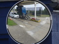 Convex Kev (stevenbrandist) Tags: eurotunnel train folkestone travel mirrror convex fordtransit