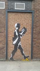 Carlisle Street Art (koothenholly) Tags: tabby carlisle abbeystreet bananabomber