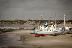 Vorupør boats (Carl Terlak) Tags: coast sand boats light windy