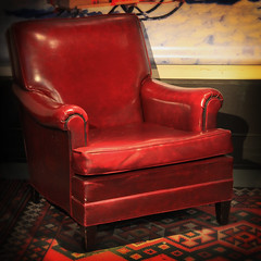Chair in Red Leather (arbyreed) Tags: arbyreed leather chair redleatherchair squareformat rest