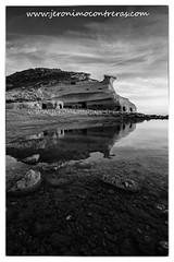 Los Cocedores bn 30x45 copia (ser-y-star) Tags: playa reflejos verano summer reflections cocedores pulpi aguilas murcia almeria rocks rocas costa coastal blackandwhite bw blancoynegro