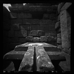 keystone ii Prasat Muang Tam nursing home building  12th century Khmer (Matt Jones (Krasang)) Tags: ondu pinhole 6x6 fuji acros 120 film prasat muang tam khmer keystone