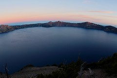 Crater Lake in early morning (daveynin) Tags: craterlake crater lake sunrise morning mountain volcanic