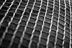 mesh (George Detsaris) Tags: rough texture dark hmm macro closeup mesh macromondays pattern geometric bw black white constrained tension