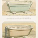 Vintage illustration of imperial porcelain baths published in 1888 by J.L. Mott Iron Works. thumbnail