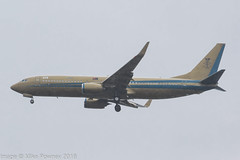 9M-III - 2014 build Boeing B737-82Z BBJ2, inbound to Manchester in the pouring rain (egcc) Tags: 5129 60686 9miii b737 b737800 b73782z b737ng bbj bbj2 bizjet boeing egcc lightroom man manchester n504bj ringway sultanofjohor