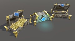 Chest - Textured Game Asset in Unity - Angled View (Aloe [Alli Keys]) Tags: