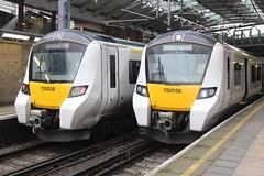 700 038 & 700 030 (laurasia280) Tags: class700 emu thameslink farringdon 700038 700030